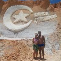 Eu e meu marido em Canoa quebrada